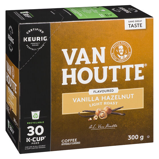 K-Cup Van Houtte Coffee - Vanilla Hazelnut - 30 Servings