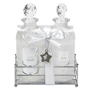 Bloomfield Bath Caddy Gift Set - Frosted Cotton Blossom - 2 piece