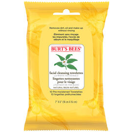 Burt's Bees Facial Cleansing Towelettes with White Tea Extract - 10's