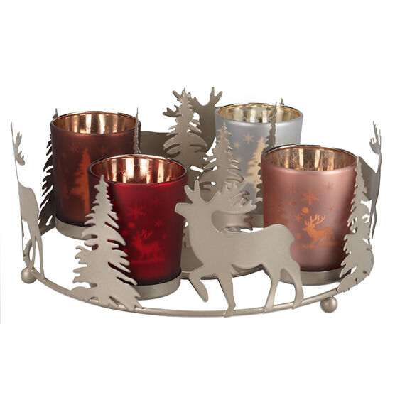London Drugs Xmas 4 Glass Candle Holder