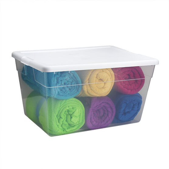 Sterilite Storage Box - Clear White - 53L