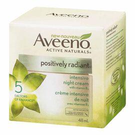 Aveeno Active Naturals Positively Radiant Intensive Night Cream - 48ml