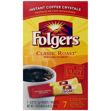 Folgers Instant Coffee - Classic - 8's