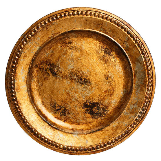 London Home Charger Plate - Antique Gold