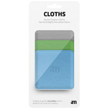 AM Screen Cleanin' Cloths - 3 Assorted Colours - AM 85509-12