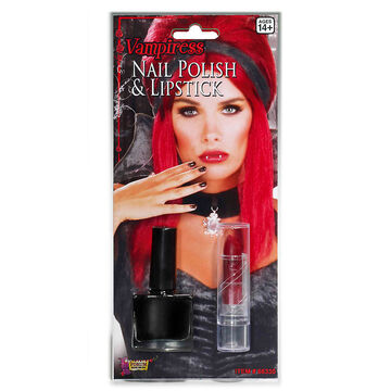 Halloween Vampiress Nail Polish and Lipstick