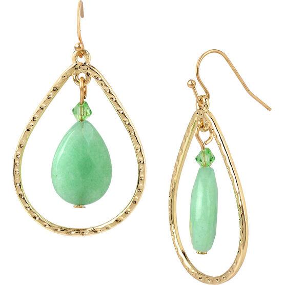 Haskell Double Drop Earrings - Mint/Gold