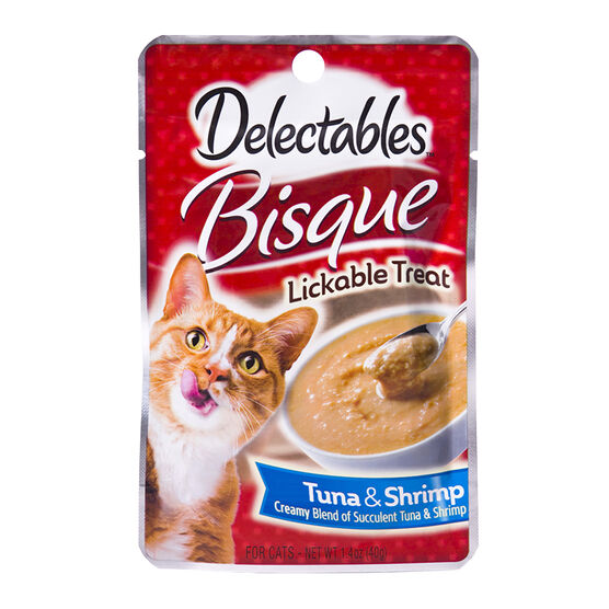 Delectables Bisque Lickable Treat - Tuna and Shrimp - 40g