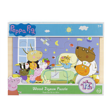 Peppa Pig Wood Jigsaw Puzzle - 12 Piece