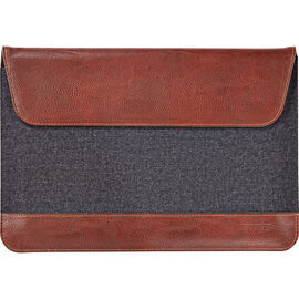 Maroo Felt and Polyurethane Leather Sleeve for Microsoft Surface 3 - Brown - MR-MS3207