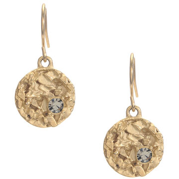 Kenneth Cole Textured Disc Drop Earrings - Gold Tone