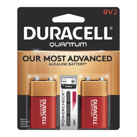 Duracell Quantum 9V Batteries - 2 pack