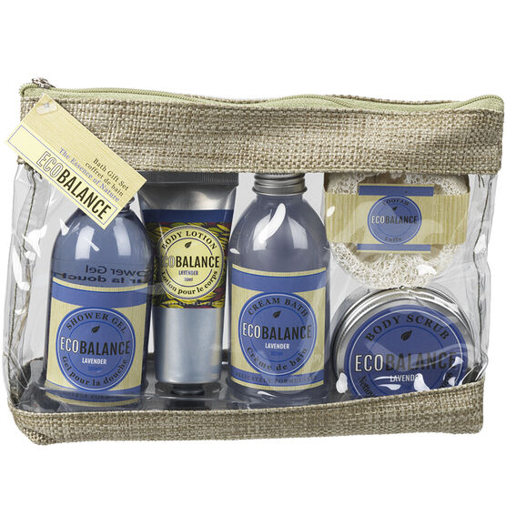ECOBALANCE Gift Bag Set - Lavender - 5 piece
