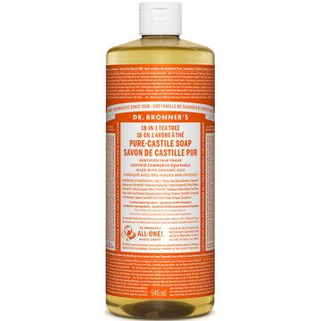 Dr. Bronner's Liquid Pure-Castile Soap - Tea Tree - 944ml