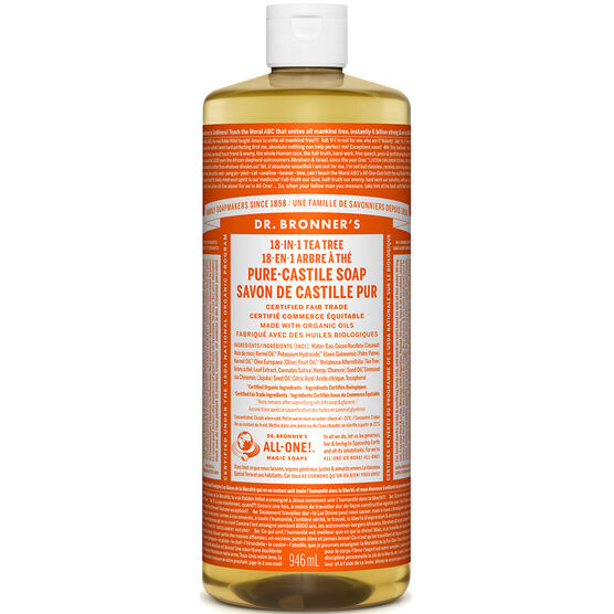 Dr. Bronner's Liquid Pure-Castile Soap - Tea Tree - 944ml