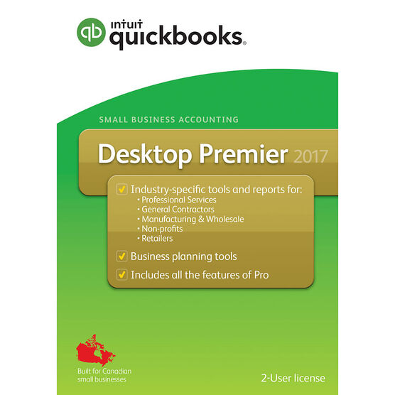Intuit QuickBooks Desktop Premier 2017 - English Accounting Software