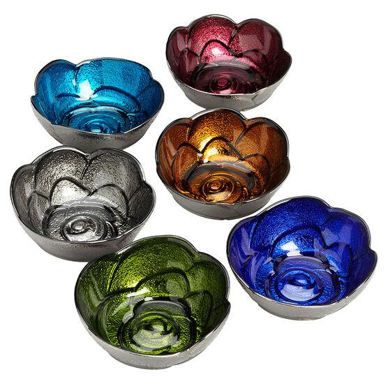 London Drugs Deluxe Colour Glass Bowls - 6 piece