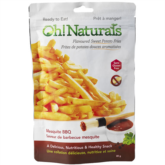 Oh! Naturals Sweet Potato Fries - Mesquite BBQ - 80g