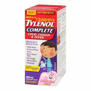Tylenol* Child's Cold Cough & Fever - 100ml