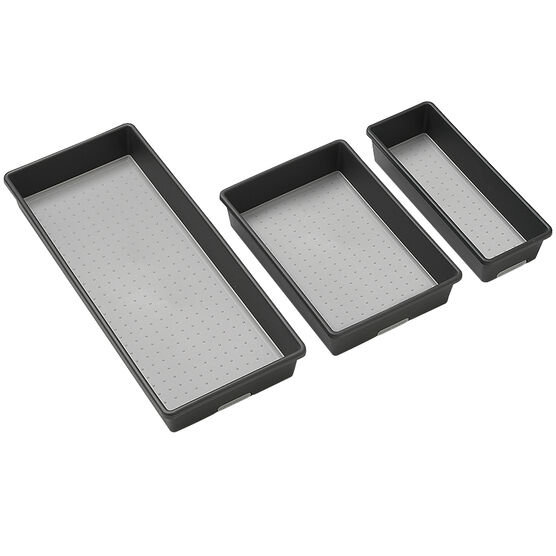 Madesmart Bin Pack - Granite - 3 pack