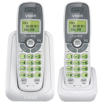 VTech CS DECT Cordless Phones with Caller ID - 2 Handsets - White - CS61142