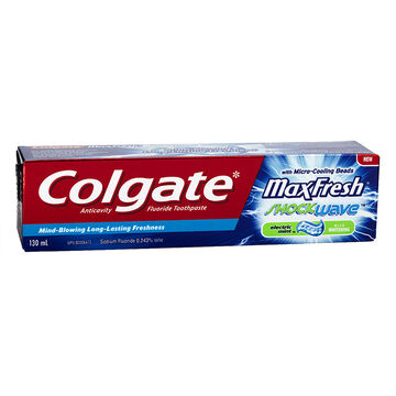 Colgate MaxFresh ShockWave Toothpaste - Electric Mint - 130ml