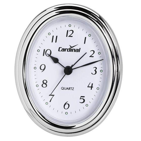 Cardinal Silver Oval Alarm Clock
