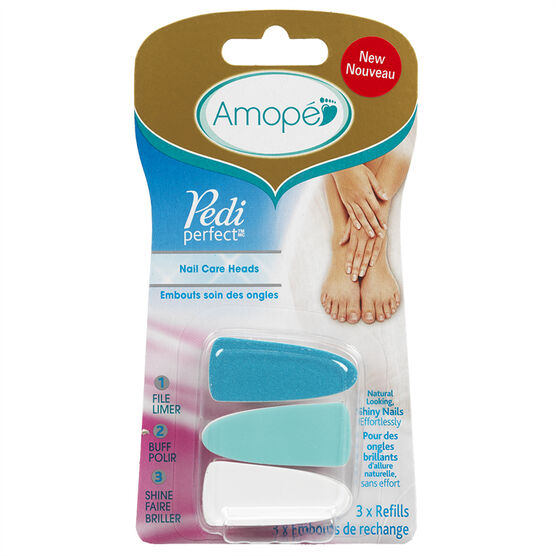 Amope Pedi Perfect Nail Care Heads Refills - 3's