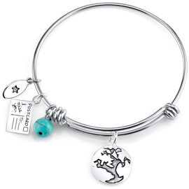 UNWRITTEN Stainless Steel Friends World Expandable Bangle