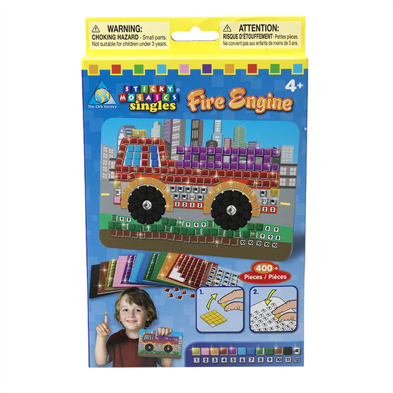 Sticky Mosaic Singles - Fire Engine