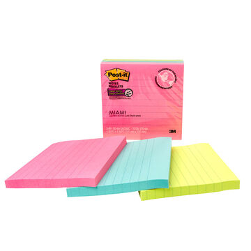 3M Post-it Siper Sticky Notes - Miami - 4x4 inches