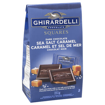 Ghirardelli Chocolate Squares - Dark & Sea Salt Caramel - 151g