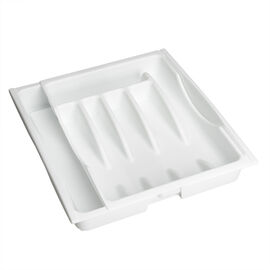 Rubbermaid Adjustable Cutlery Tray - White - 11.6 x 14.6 inch