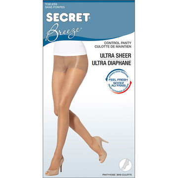 Secret Breeze Toeless Control Top - D - Nude