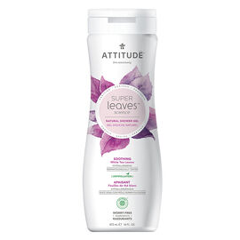 Attitude Super Leaves Science Natural Shower Gel - Soothing White Tea Leaves - 473ml