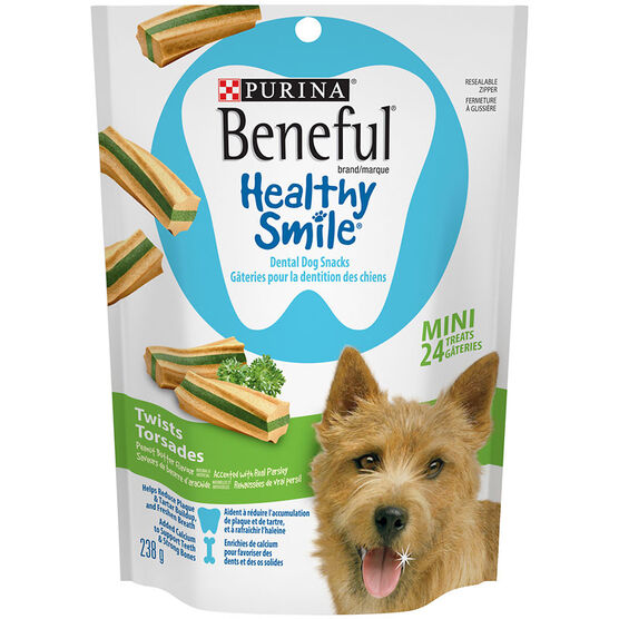 Purina Beneful Mini Healthy Smile Treats - Twists - 238g