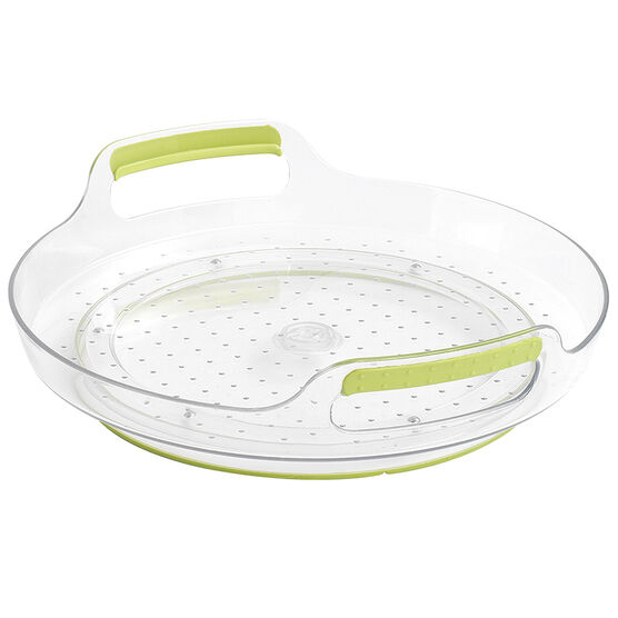 MadeSmart Fridge Turntable Container - Green/Clear - Short
