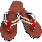 Panama Jack Ladies Rope Sandals - Red/Navy - Sizes 5-10