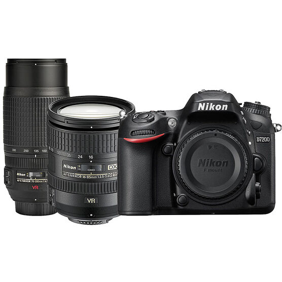 Nikon D7200 with 16-85mm and 70-300mm VR Lens