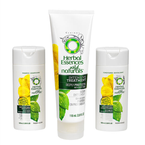Herbal Essences Wild Naturals Detoxifying Kit - 3 piece