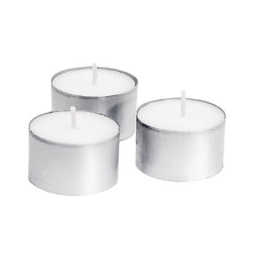 Yummi 8 Hour Tealights - White - 50 pack