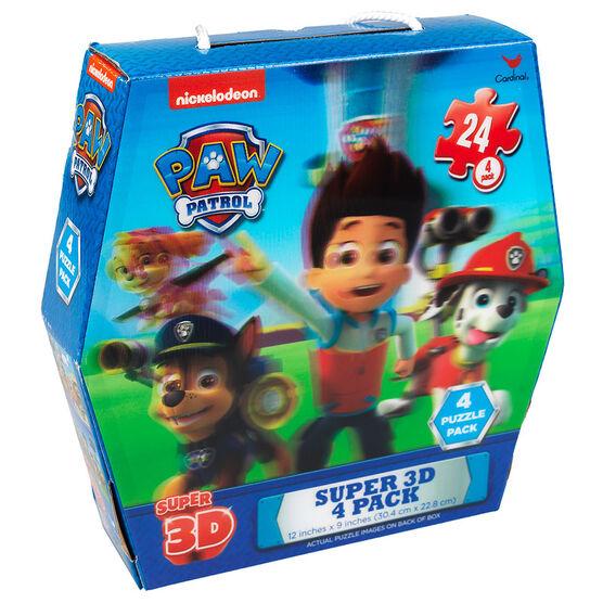 Paw Patrol Super 3D - 4 Puzzle Pack