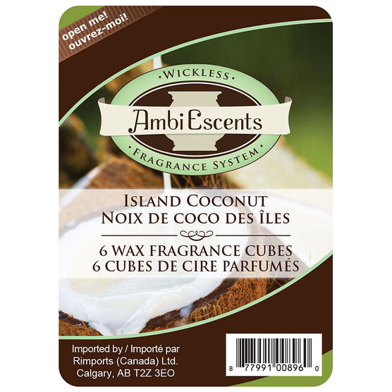 AmbiEscents Wax Cubes - Island Coconut