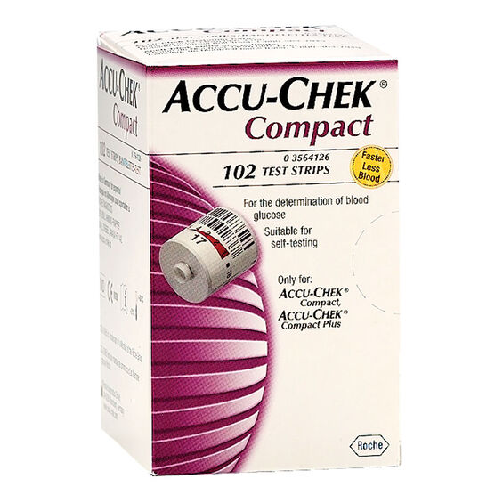 Accu-Chek Compact Test Strips - 102's