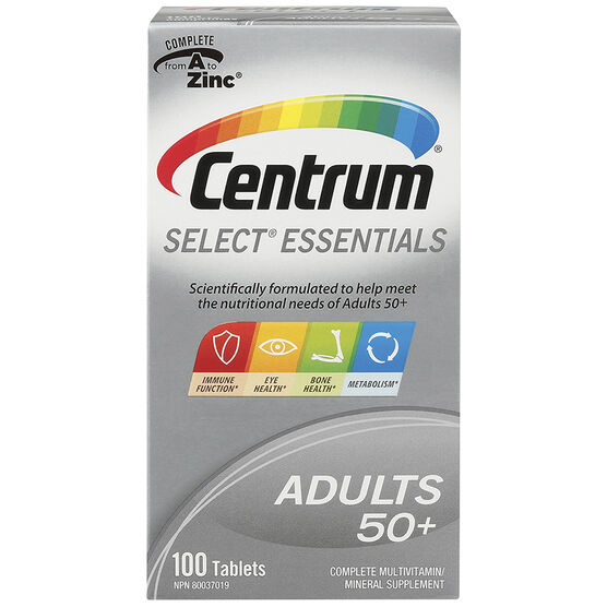 Centrum Select 50 Plus Multivitamin - 100's