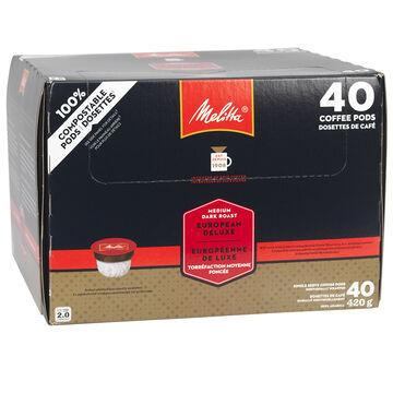 Melitta Cups Deluxe European Roast Coffee - 40 servings