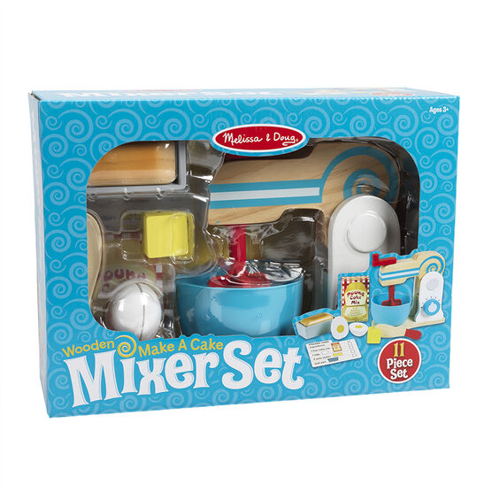 Melissa & Doug - Wooden Make a Cake Mixer Set