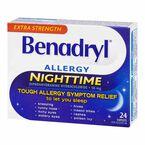 Benadryl Allergy Nighttime 50mg - Extra Strength - 24 caplets