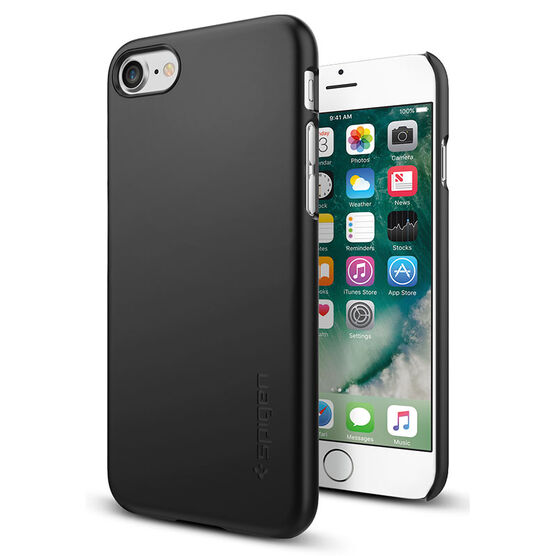 Spigen Thin Fit Case for iPhone 7 - Black - SGP042CS20427