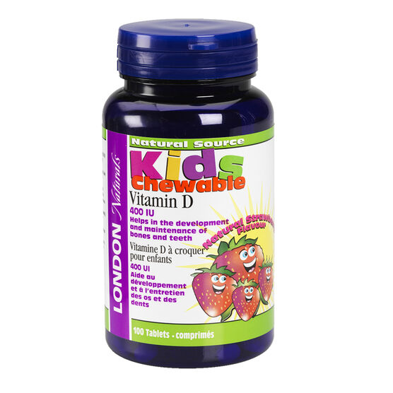 London Naturals Kids Chewable Vitamin D 400IU - 100's